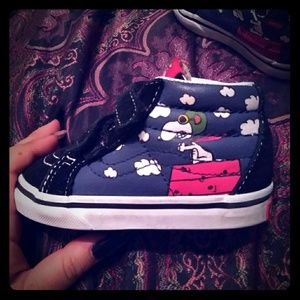 Red Baron Snoopy Vans toddler